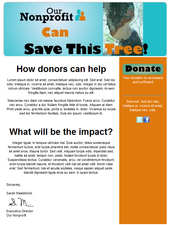 donation templates
